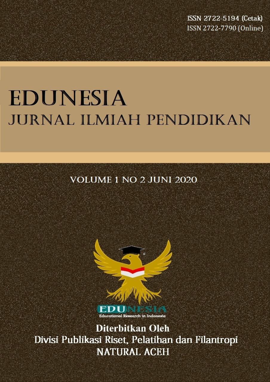 View Vol. 1 No. 2 (2020): Edunesia : Jurnal Ilmiah Pendidikan