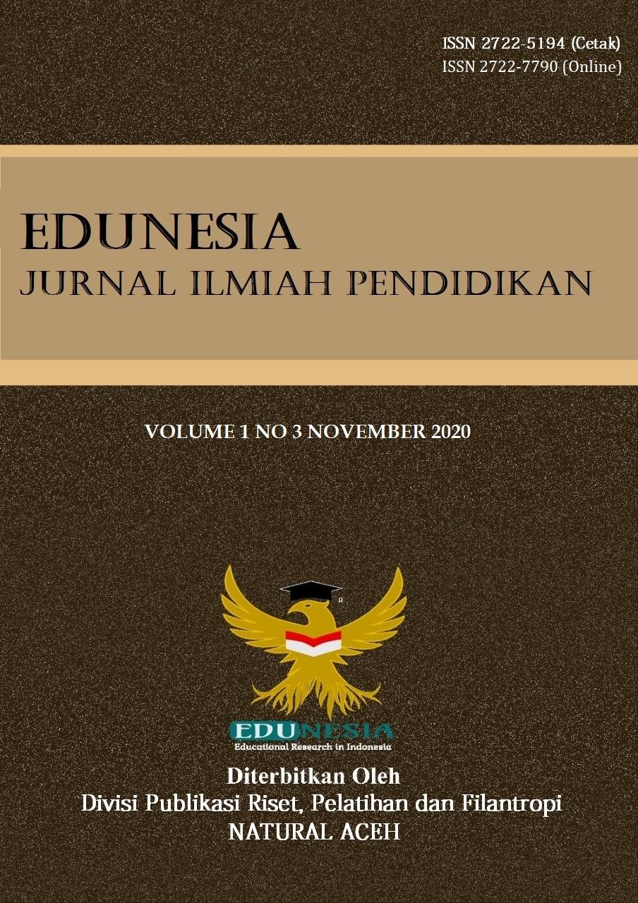 View Vol. 1 No. 3 (2020): Edunesia : Jurnal Ilmiah Pendidikan